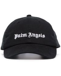 Palm Angels Baseballkappe mit Logo-Print - Schwarz