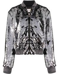 Golden Goose Deluxe Brand Куртка-бомбер С Пайетками - Металлик