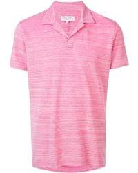 Orlebar Brown - オープンカラー ポロシャツ - Lyst