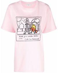 Sandro グラフィック Tシャツ - ピンク