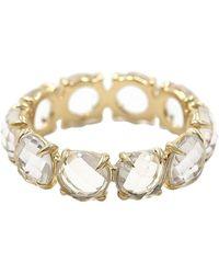 Bondeye 14kt Yellow Gold Rock Crystal Eternity Band Ring - Metallic