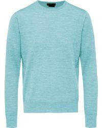 Prada - Pullover mit Rundhalsausschnitt - Lyst