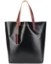 Marni Sac cabas colour block - Noir