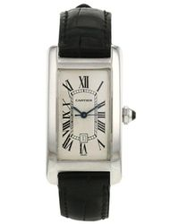 Cartier Orologio Tank Américaine 22mm Pre-owned 2000 - Bianco