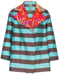 Rianna + Nina - Silk Stripe Jacket - Lyst