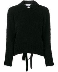 Cecile Bahnsen Open Back Knitted Jumper - Black