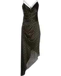 Haney Holly ポルカドット ドレス - ブラック