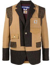 Junya Watanabe パネル シングルジャケット - ブラウン
