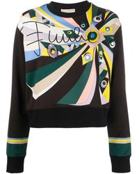 Emilio Pucci Embroidered Abstract-print Sweatshirt - Multicolor