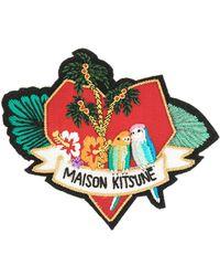 Maison Kitsuné Portafoglio a forma di volpa - Multicolore