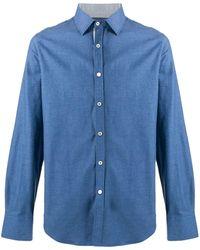 Canali - Camisa lisa con botones - Lyst