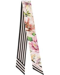 Dolce & Gabbana Double Print Bandeau Scarf - Pink