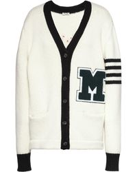 Miu Miu Varsity-style Cardigan - White