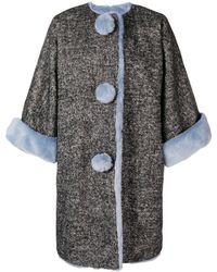 Dolce & Gabbana Пальто Свободного Кроя С Меховой Оторочкой - Многоцветный