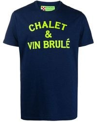 Mc2 Saint Barth Chalet & Vin Brulé Tシャツ - ブルー