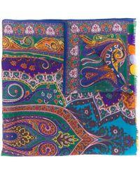 Etro Paisley Print Scarf - Purple