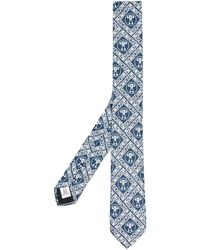 Moschino ロゴ ネクタイ - ブルー