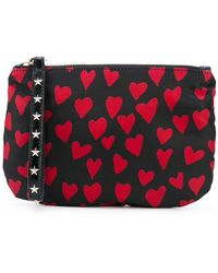 RED Valentino - Heart Print Zipped Clutch - Lyst