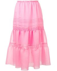 See By Chloé Ruched Organza Skirt - Pink