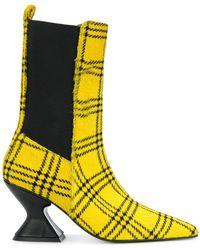 Marques'Almeida - Checked Print Ponyhair 75 Boots - Lyst