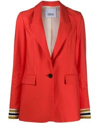 Erika Cavallini Semi Couture Blazer mit kastigem Schnitt - Orange