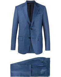 Ermenegildo Zegna Einreihiger Anzug - Blau