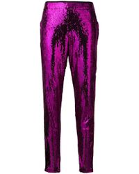 Laneus - Skinny Sequinned Trousers - Lyst