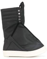 Rick Owens Drkshdw Wide Trainer Boots - Black