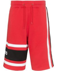Givenchy Basketball Style Logo Shorts - Red