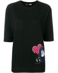 Love Moschino - Jersey ajustado con parche de dibujo - Lyst