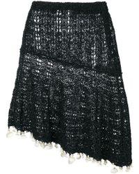 Sonia Rykiel - Asymmetric Knit Skirt - Lyst