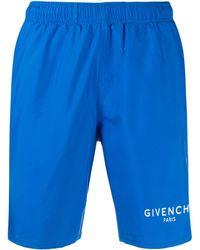 Givenchy ロゴ トランクス水着 - ブルー