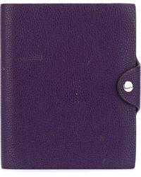 Hermès Pochette de carnet à bouton pression - Violet