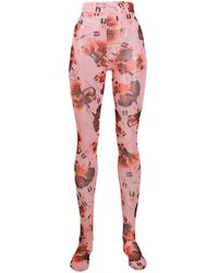 Henrik Vibskov Waltz-print High-rise Tights - Pink