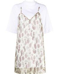 Palm Angels Vestito modello T-shirt leopardato - Multicolore
