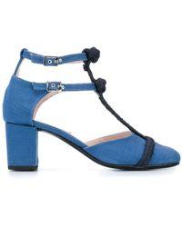 LEANDRA MEDINE Rope T-strap Pumps - Blue
