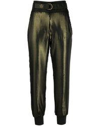 Mr & Mrs Italy Pantalones capri con lentejuelas - Verde