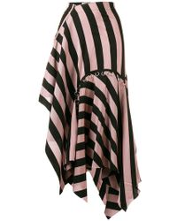 Marques'Almeida - Asymmetrical Striped Skirt - Lyst