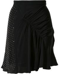 N°21 Embellished Gathered Skirt - Black