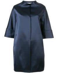 Gianluca Capannolo - Glossy Collarless Coat - Lyst