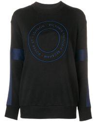 Victoria, Victoria Beckham - Logo Target Sweatshirt - Lyst