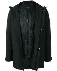 Z Zegna - Layered Single-breasted Coat - Lyst