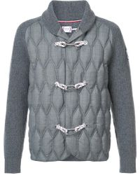 Moncler Gamme Bleu - Quilted Toggle Cardigan - Lyst