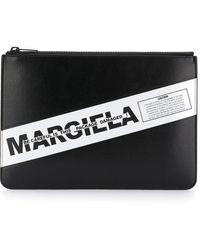 Maison Margiela Contrast Logo Clutch - Black