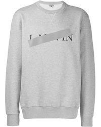 Lanvin ロゴ スウェットシャツ - グレー