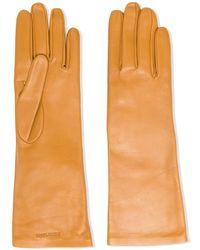 Saint Laurent レザー手袋 - オレンジ