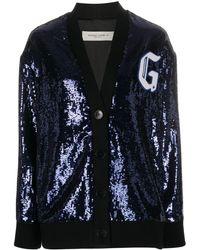 Golden Goose Deluxe Brand Sequin Wool Cardigan - Blue
