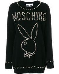 Moschino - Playboy Studded Sweater - Lyst