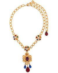 Dolce & Gabbana マルチストーン ネックレス - マルチカラー