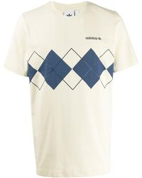 adidas T-shirt à logo Argyle - Bleu